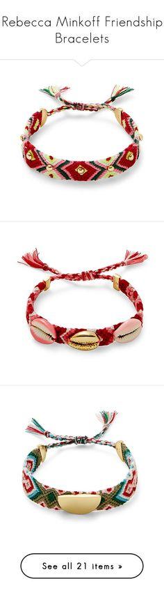 Rebecca Minkoff Friendship Bracelets by haikuandkysses on Polyvore featuring #Friendship_Bracelets #Rebecca_Minkoff #women's_fashion  #jewelry #earrings, #bracelets  #friendship_bracelet  #rebecca_minkoff_jewelry  #beaded_Jewelry #beaded_bracelets
