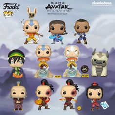 Popular toy collectible manufacturer Funko has announced a new wave of Pop! figures based on Nickelodeon's Avatar: The Last Airbender. Teen Wolf, Funko Pop Anime, Funko Pop Dolls, L Death Note, Funk Pop, Avatar The Last Airbender Art, Pop Toys, Team Avatar, Pop Vinyl Figures