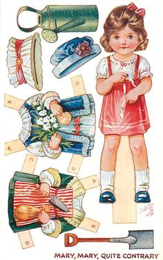 MARY, MARY, QUITE CONTRARY NURSERY RHYMES DRESSING DOLLS, SERIES 2.