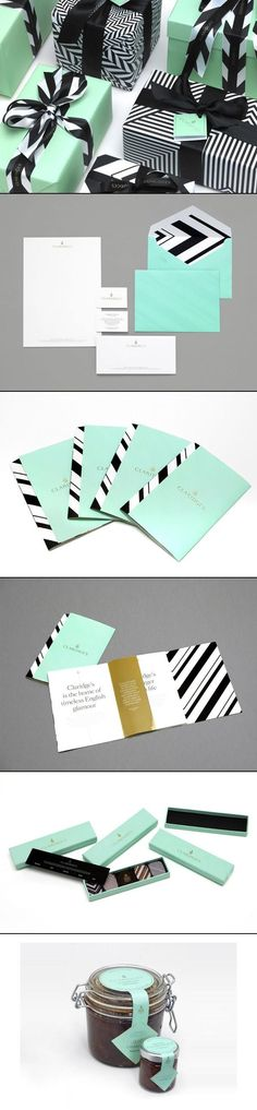 CLARIDGE'S – New Brand by Construct Curated by Packaging Diva PD identity packaging branding PD | Marketing With Packaging Design | Pinterest