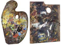 Claude Monet's Palette (Left) | Édouard Manet's Palette (Right)