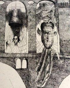 Katarína Vavrová / etching detail