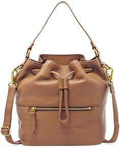 Fossil Vickery Leather Drawstring