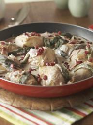Creamy Chicken With Roasted Poblanos   KitchenDaily.com