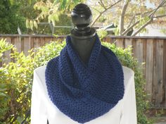 Infinity Eternity Cowl Neck Warmer Scarf by ClusterCrochet on Etsy, $30.00