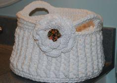 Cotton Crochet Basket PatternShabby Chic by Nogginsandnapes, $4.75