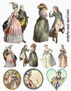 Free Image Friday More fashion of the 1700s - Landofnodstudios