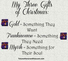 My 3 Gifts of Christmas vs. Gimme-gimme Christmas