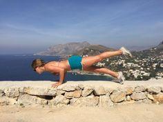 organic cotton jojo shorts by hyde yoga   chaturanga by @sashayoga   view by kalymnos, greece   #hydeyoga #kalymnos #travel #chaturanga