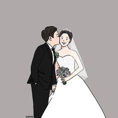 Love Cartoon Couple, Chibi Couple, Cute Couple Art, Cute Couples, Wedding Illustration, Couple Illustration, Couple Drawings, Cute Cartoon Wallpapers, Pretty Art