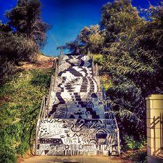 Staircase street  Art-  Archibishop Makariou Lyceum Larnaca