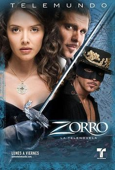 Telemundo's unforgettable Zorro series.   Zorro like you've never seen him before ....