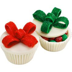 Candy Cupcake Boxes - These festive candy cupcake boxes are almost too pretty to eat, but too irresistible not to.