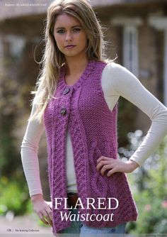 The Knitting Collection 1 - 编织 Knitting Designs, Knitting Patterns Free, Knit Patterns, Crochet Baby Hats, Knit Crochet, Knit Vest Pattern, Knitted Flowers, Knitting Magazine, Girl With Hat