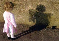 Toddler sees true shadow!