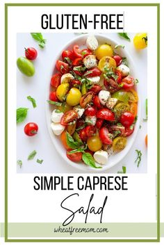 This easy to make summer salad takes less than 10 minutes to make. It has fresh ingredients like basil, baby tomatoes, good balsamic and olive oil and baby Mozzarella balls. Perfect for your next family bbq, picnic or neighborhood party. Baby Tomatoes, Small Tomatoes, Bbq Salads, Summer Salads, Salad Recipes Gluten Free, Neighborhood Party, Varieties Of Tomatoes, Family Bbq, Free Summer