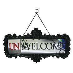 Un-Welcome hanging mirror