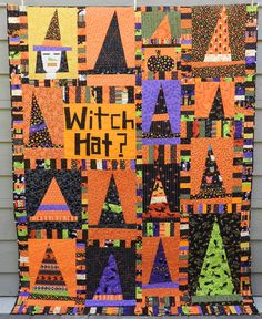 https://flic.kr/p/ophDJa | Witch Hat?  front | Liberated piecing. from Kristin Shields (kristinshields.typepad.com/stitchinghands/2014/08/witch-h...