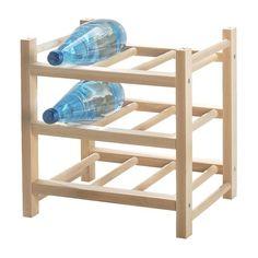 IKEA - HUTTEN, Viinipulloteline 9 pullolle, Voidaan täydentää useammalla HUTTEN-viinipullotelineellä.