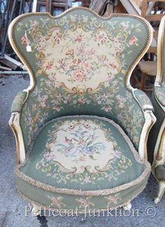 vintage tapestry chair