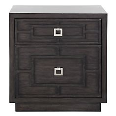 A marriage of clean lines and overlay dimension, our Gunnar Casegood Collection is handsome and sophisticated.  #ZGallerie  #Nightstand