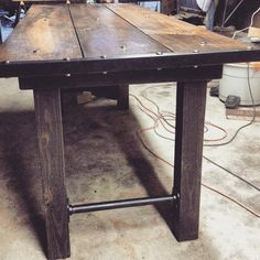 Medieval furniture Industrial dining table Rustic by GatsbyTimber – Top Trend – Decor – Life Style Rustic Farm Table, Farmhouse Table, Industrial Dining, Industrial Furniture, Industrial Office, Kitchen Furniture, Medieval Furniture, Medieval Houses, Design Your Dream House