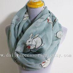 Cute+Rabbit+Infinity+Scarf+Cozy+Rabbit+Scarf+by+dailyaccessoriez,+$15.99