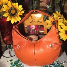 Michael Kors Bag NWT! Michael By Michael Kors- Sz 8x13- Never used- Genuine leather- Hobo style- Burnt Orange- Purchased at Nordstrom- Clean inside & out- Super cute! MICHAEL Michael Kors Bags Hobos