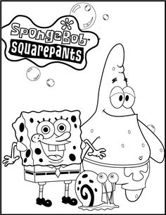 Spongebob Patrick And Gary coloring picture for kids