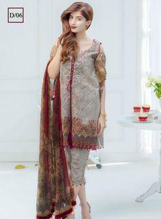 Noor By Sadia Asad Lawn Suit, Ladies Replica Suits, Replica Shop Online Simple Pakistani Dresses, Pakistani Dresses Online, Pakistani Fashion Casual, Pakistani Dress Design, Pakistani Outfits, Dress Neck Designs, Stylish Dress Designs, Designs For Dresses, Beautiful Dresses For Women