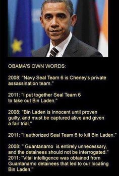 In Obama's own words...double speak, double cross, double damned....and we can look forward to 4 more years of this if Hillary is elected?  HEAVEN HELP US!!