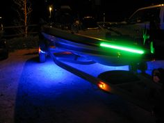Custom Boat Lighting   This Is A Triton With Marker Lights And The Trailer  Lit
