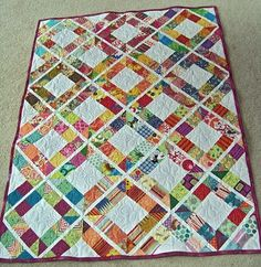I have finished some projects this past week and want to show them to you.  Above is a quilt that I made from blocks donated by the women ...