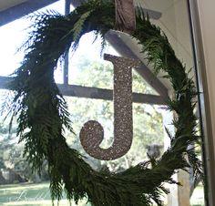 Love this monogrammed wreath!