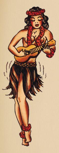 Nani vintage style hula tattoo