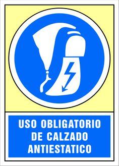 Señal uso obligatorio de calzado antiestático