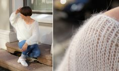Yummy, I love oversized sweaters. The looseness doesn't make it look that warm though o_o