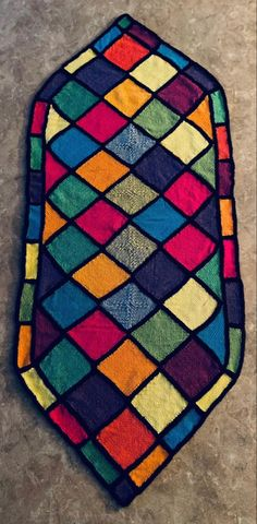 By Carol Dowell using Lion Brand Mandala (Gnome colorway) and Mandala Sparkle cake (Crux colorway)