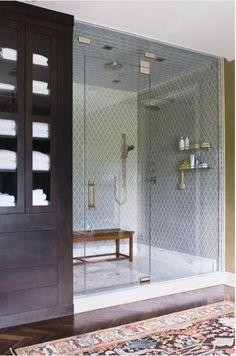 Bathroom in elegant grey