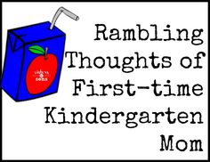 Rambling Thoughts of a First-time Kindergarten Mom - Sisters to Sons