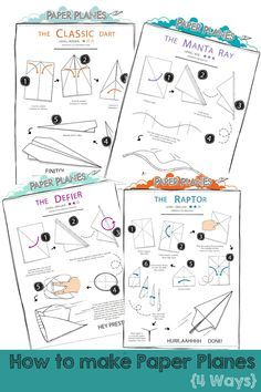 Paper Airplane Printable Template Sheets  Paper Airplane Glider