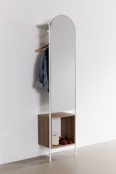 Rooney Entryway Storage Mirror - My Website 2020 Mirrors Urban Outfitters, Hanging Scarves, Wall Mounted Desk, Cubby Storage, Diy Storage Mirror, Diy Entryway Storage, Record Storage, Entryway Decor, Entryway Mirror