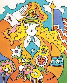 """electripipedream: """"John Alcorn Woman to Woman 1968 """""""