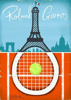 Tennis Posters by Paul Thurlby, via Behance