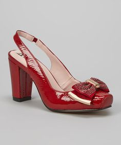 Love this Red Galena III Slingback on #zulily! #zulilyfinds
