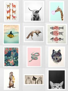 Society6 Animal Art Prints - Society6 is home to hundreds of thousands of artists from around the globe, uploading and selling their original works as 30+ premium consumer goods from Art Prints to Throw Blankets. They create, we produce and fulfill, and every purchase pays an artist.