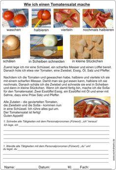 Tomatensalat Rezept Beschreibung mit Text und Bild