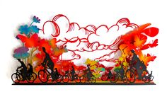 Uri Dushy - Works of Art - Wall Sculptures: Riding in Colourful Landscape, Metal Wall Sculpture Metal Wall Sculpture, Wall Sculptures, Metal Walls, It Works, Landscape, Color, Art, Art Background, Scenery