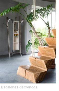 Arquitectura de Casas: Escalera rústica