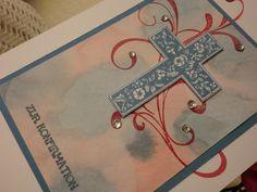 Weiteres - Zur Konfirmation - elegante moderne Grußkarte - ein Designerstück von kreativesherzerl bei DaWanda